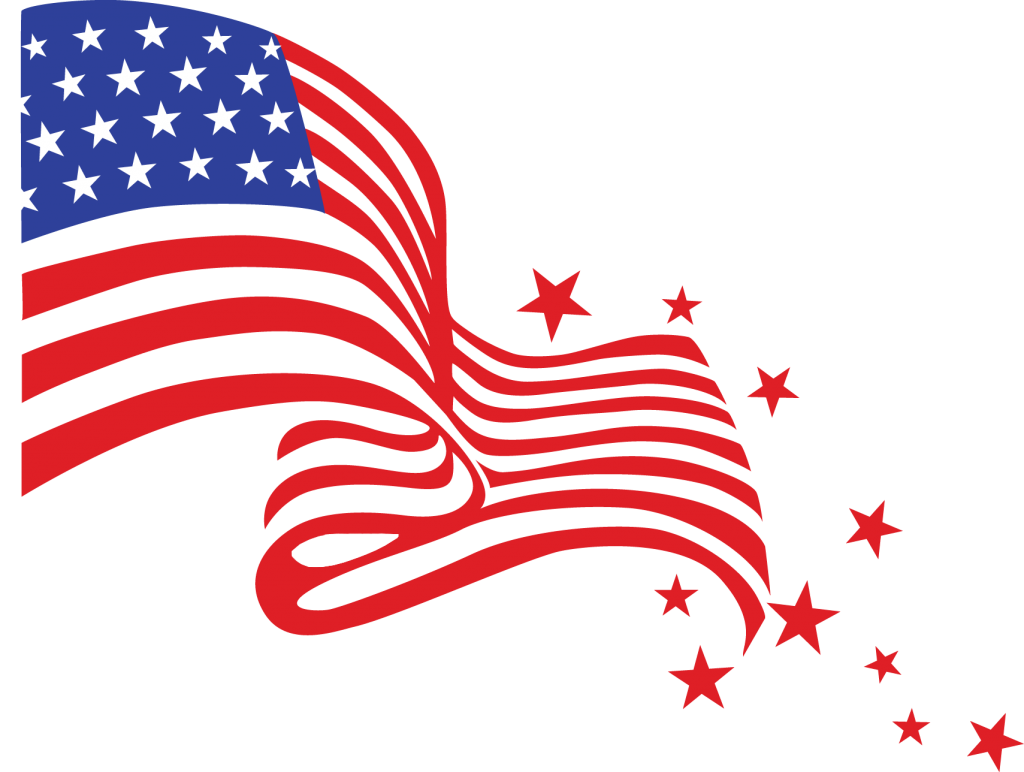 Happy 4th of July Clipart Coloring Pages