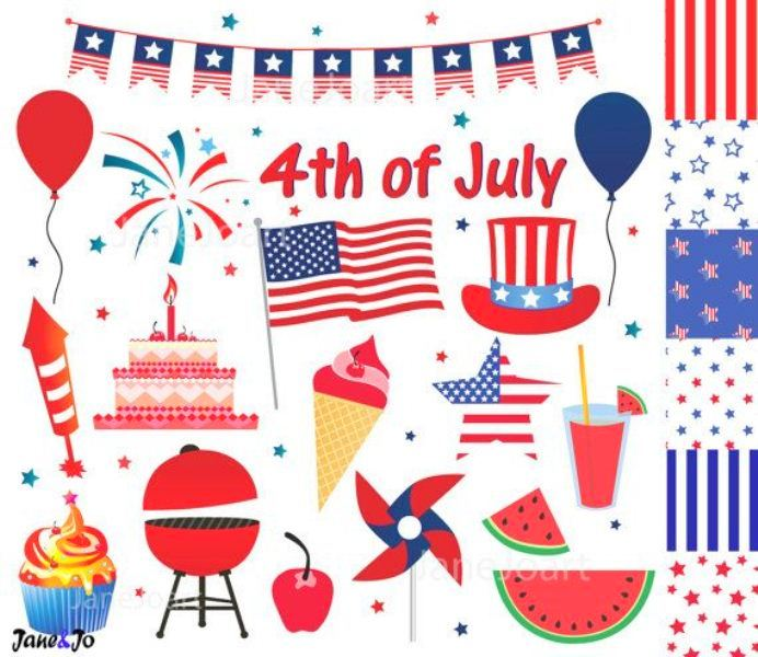 Happy 4th of July Graphics Clipart
