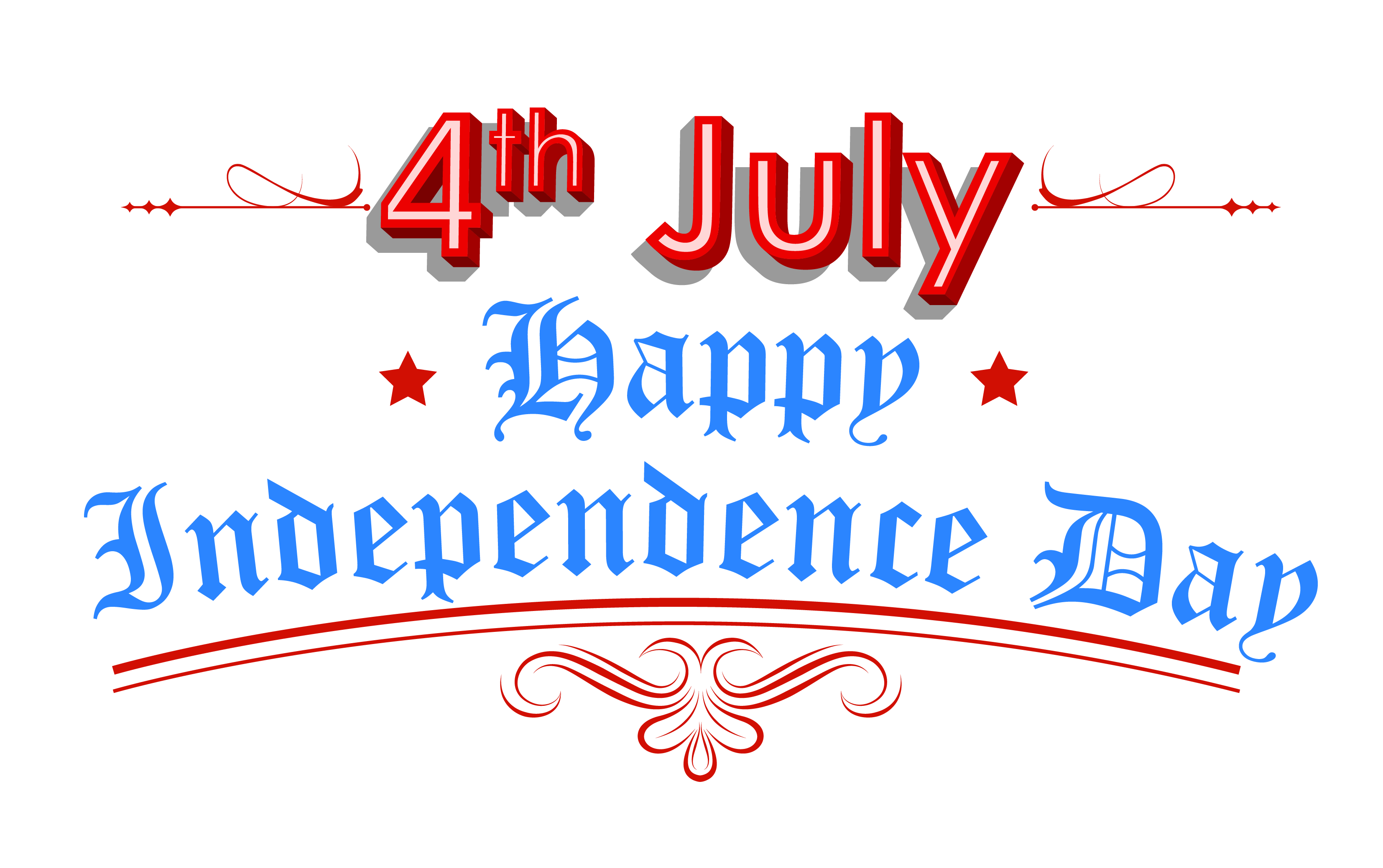 Happy 4th of July Independence Day Background Clipart