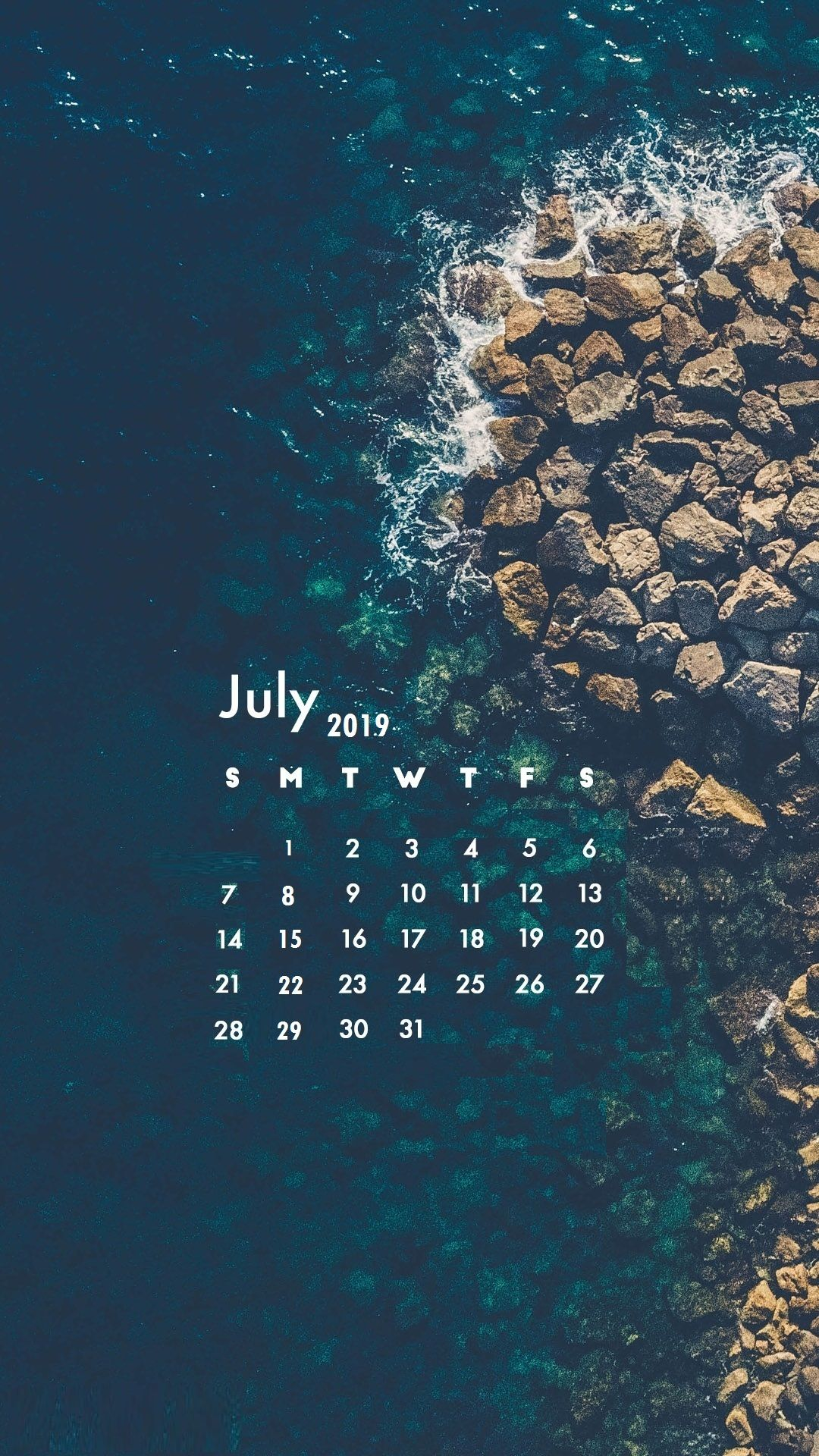 July 2019 iPhone Calendar Wallpaper