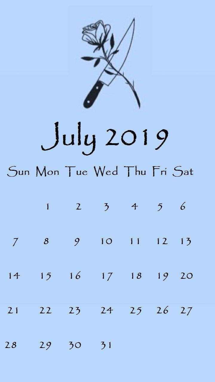 July 2019 iPhone Screensaver Background