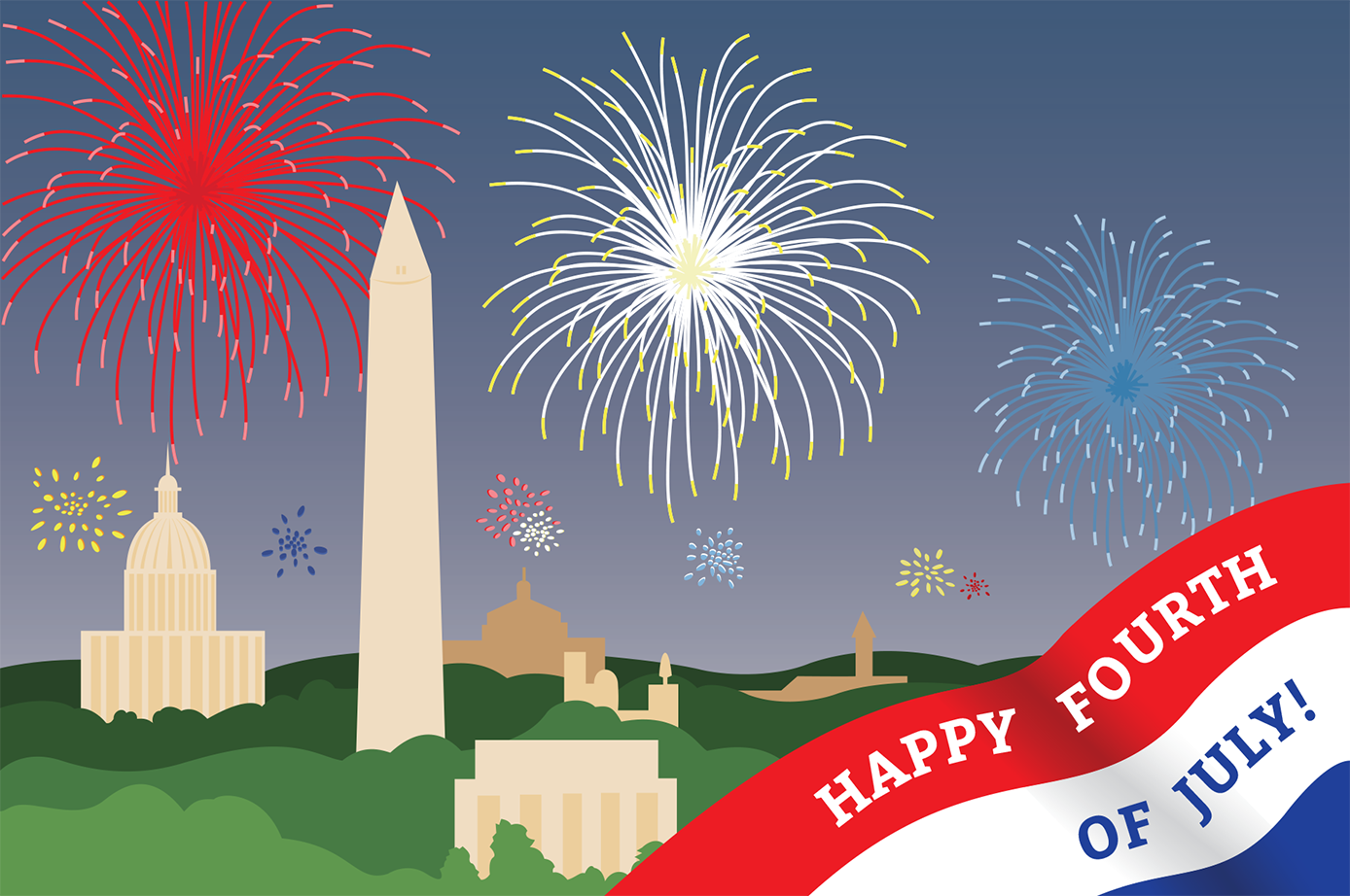 Newyork Fourth of July 4th of July Cards