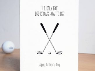 Original Funny Golf Fathers Day Cards