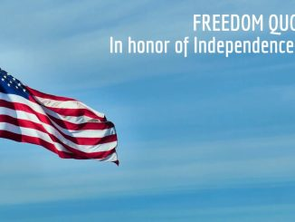 USA Independence Day Freedom Quotes and Wave Flags