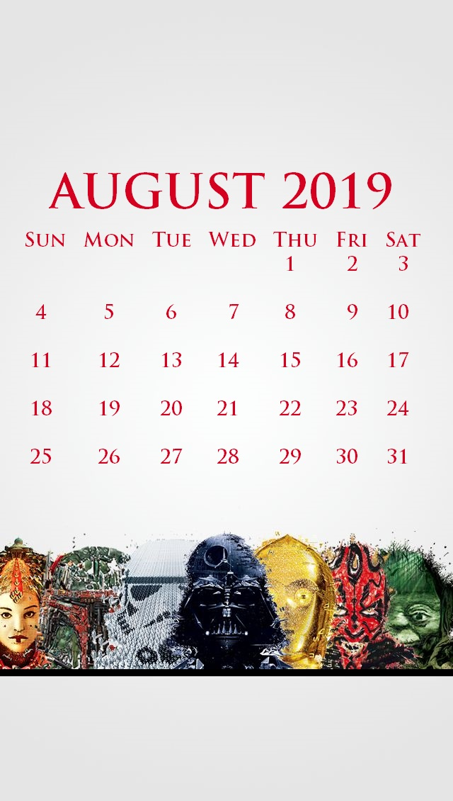 iPhone July 2019 Calendar Wallpaper
