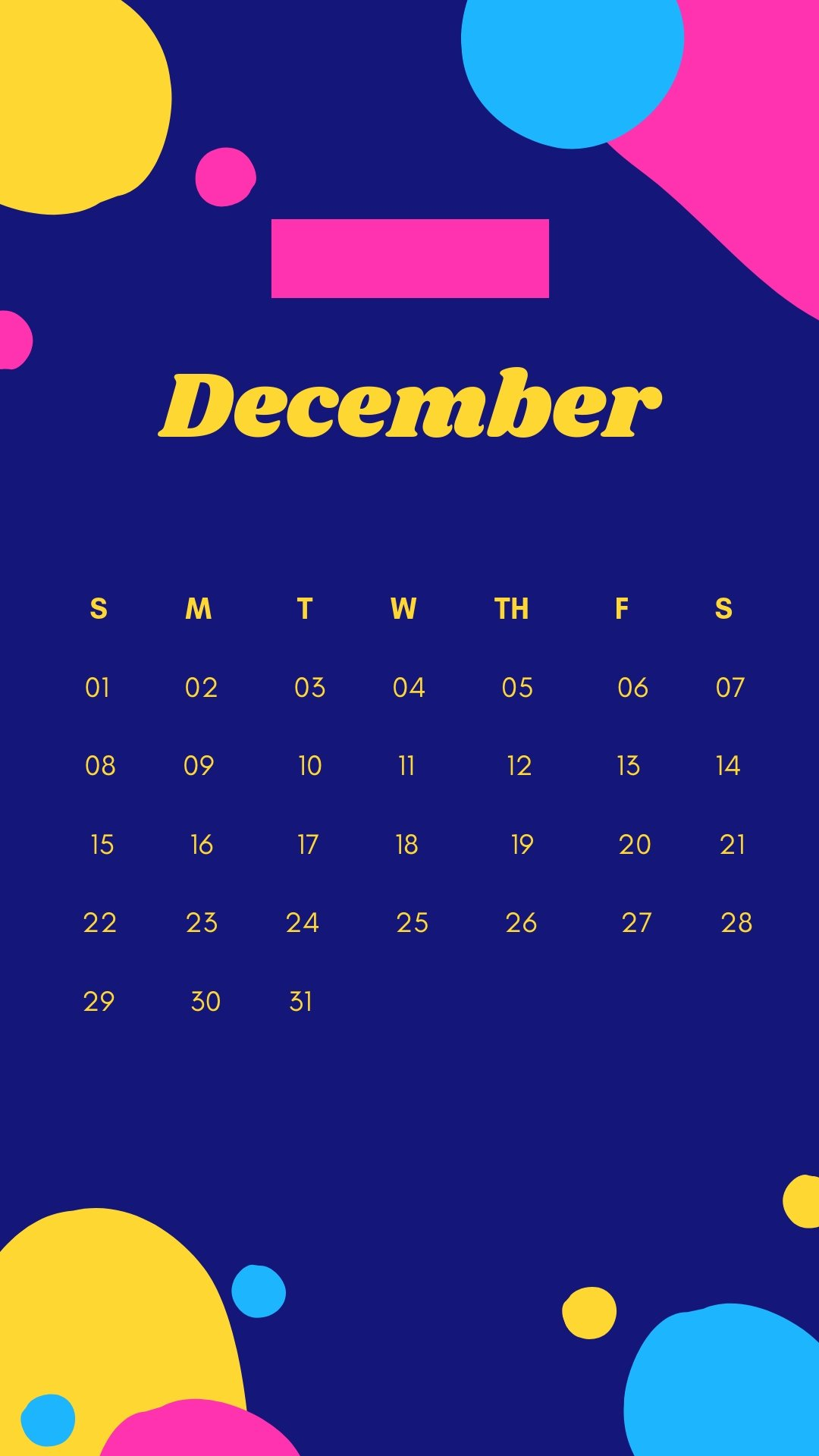 December 2019 iPhone Cute Wallpaper