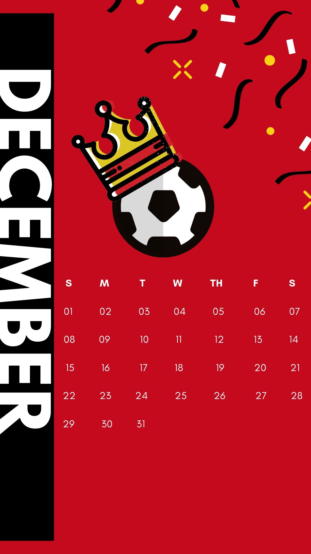 December 2019 iPhone Football Wallpaper