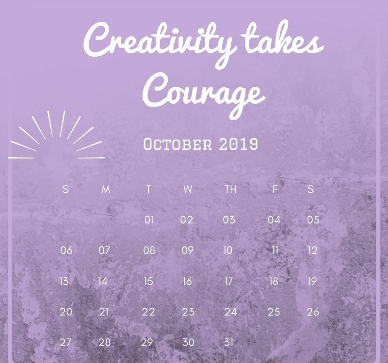 October 2019 Calendar With Quote