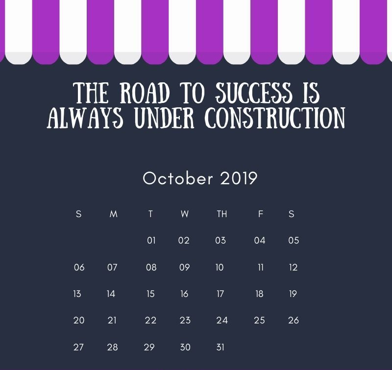 October 2019 Quotation Calendar
