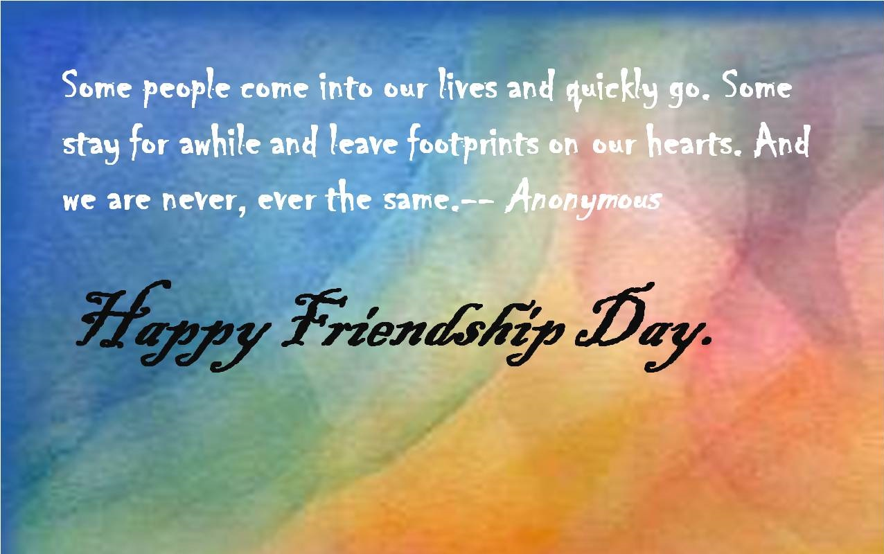 Friendship Day Message In English