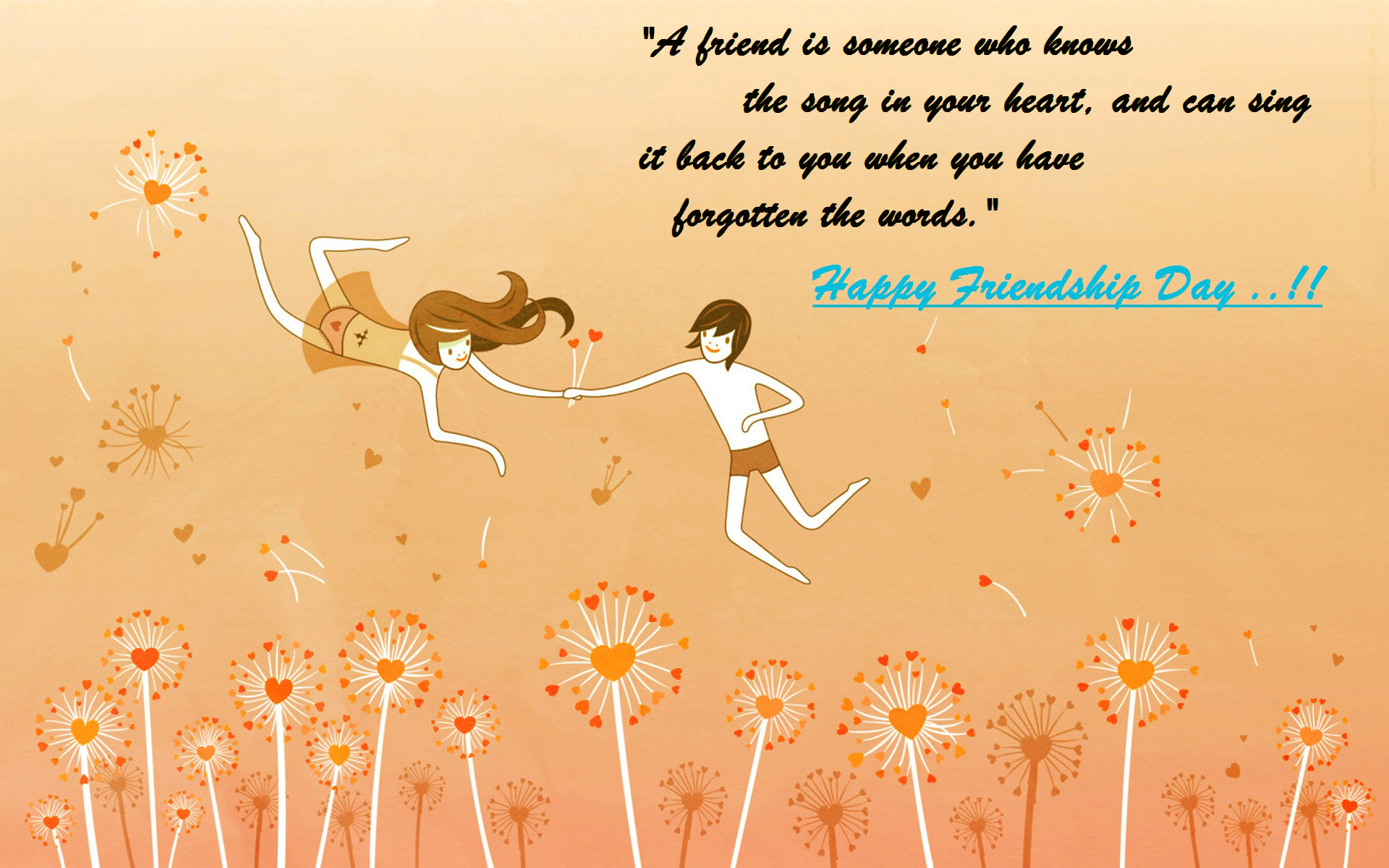 Happy Friendship Day Quotes Wallpaper For Desktop