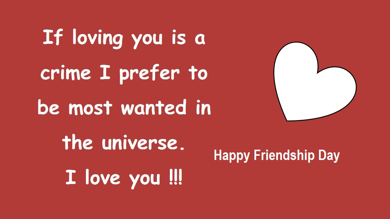 Happy Friendship and Valentines Day Message