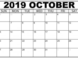 October 2019 Calendar USA with Holidays