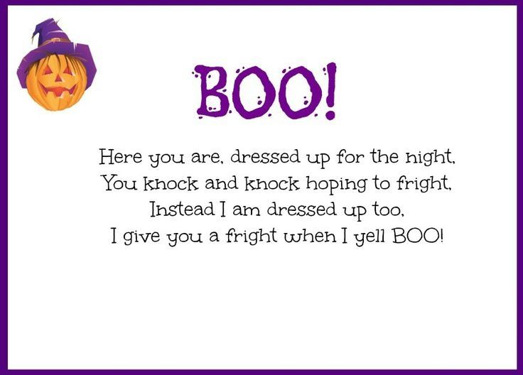 Funny Halloween Poems for Kids