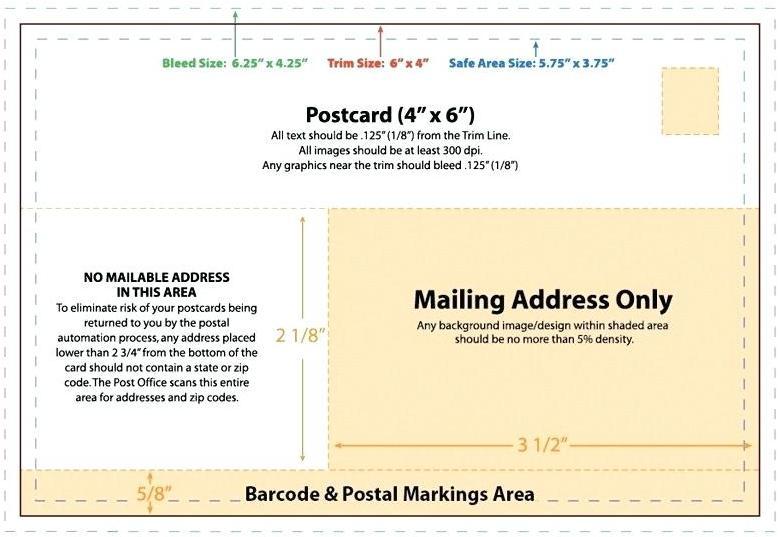 Printable Postcard Daesign Template